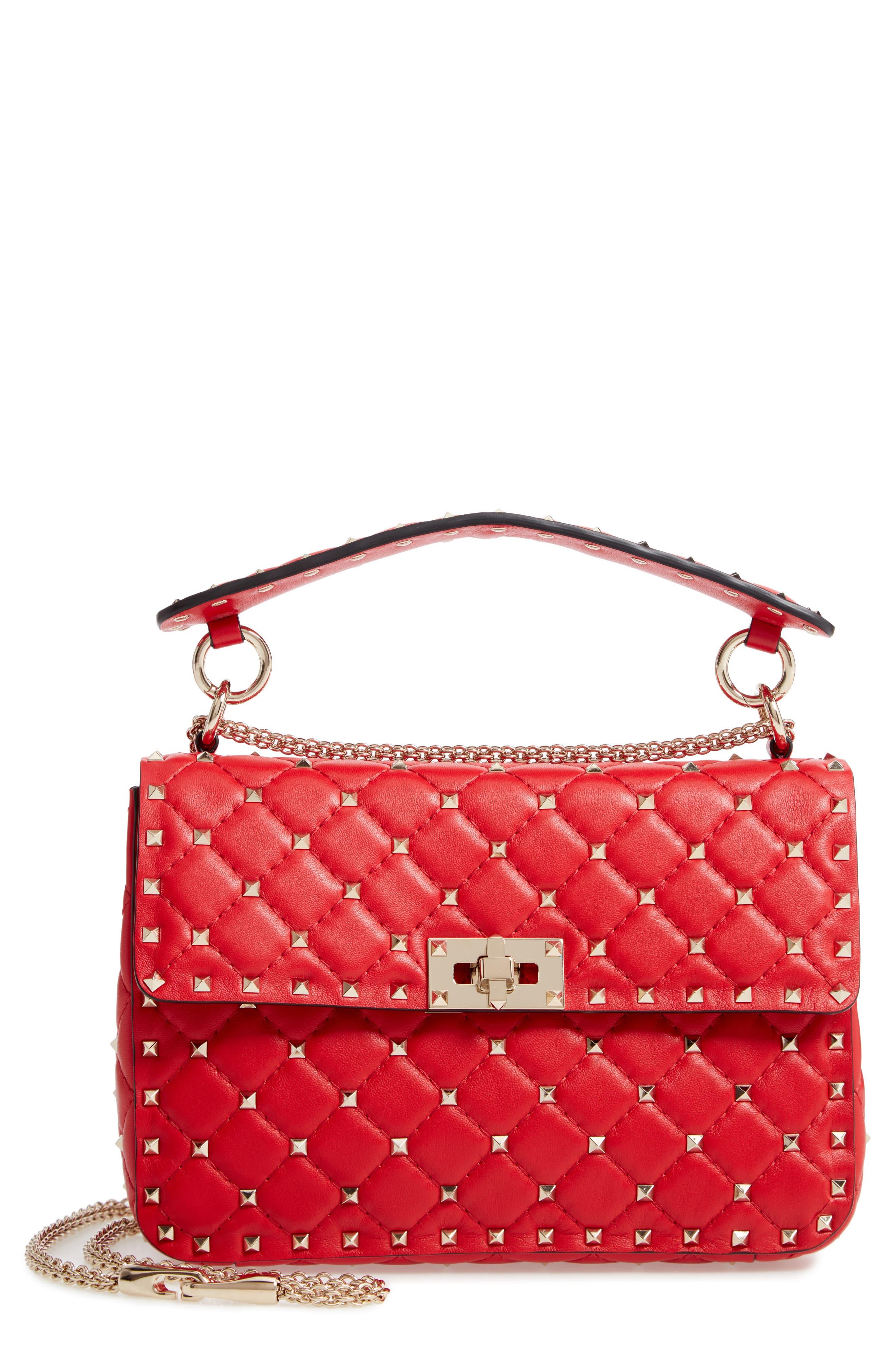 Valentino Garavani Medium Rockstud Matelassé Quilted Leather Shoulder Bag | Nordstrom