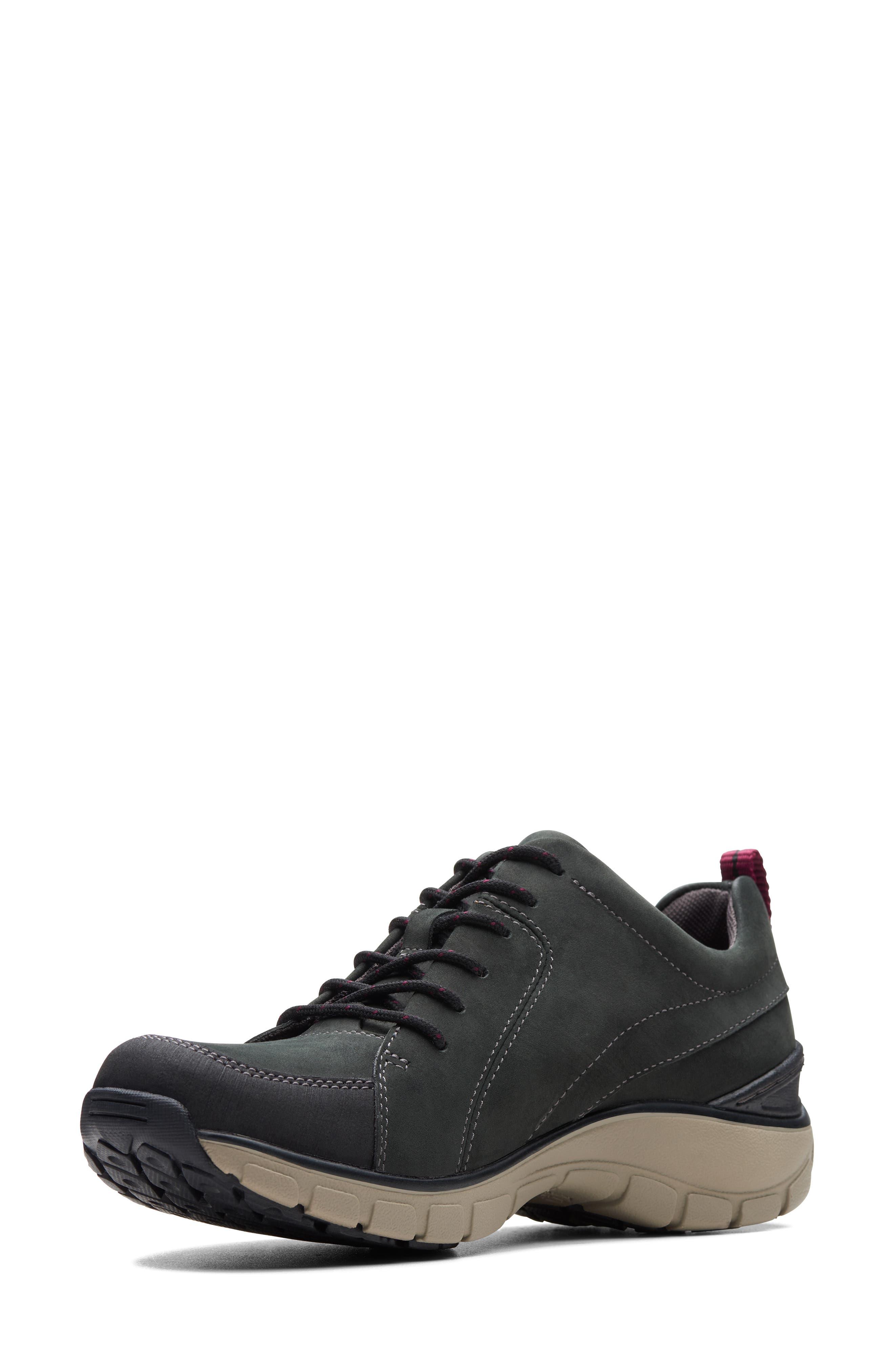,                             Wave Go Waterproof Sneaker,                             Alternate thumbnail 6, color,                             BLACK NUBUCK/ LEATHER COMBI