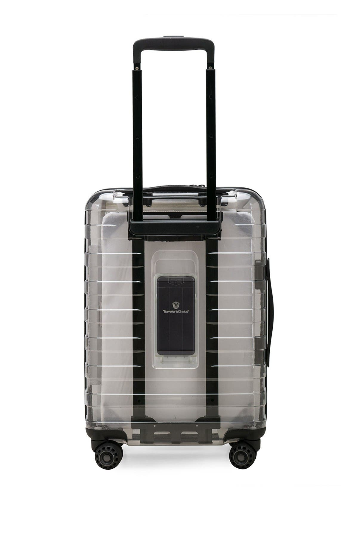 """Traveler's Choice Luggage Millennial Special Edition 21"""" Hardside Carry-On Spinner & Power Bank"""