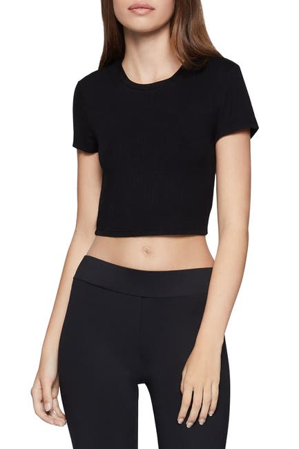 Image of BCBGeneration Solid Crop T-Shirt