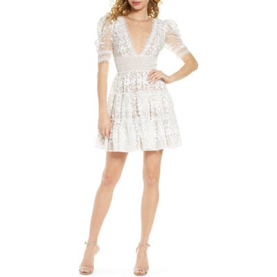 Bronx And Banco Megan Floral Lace Minidress, White