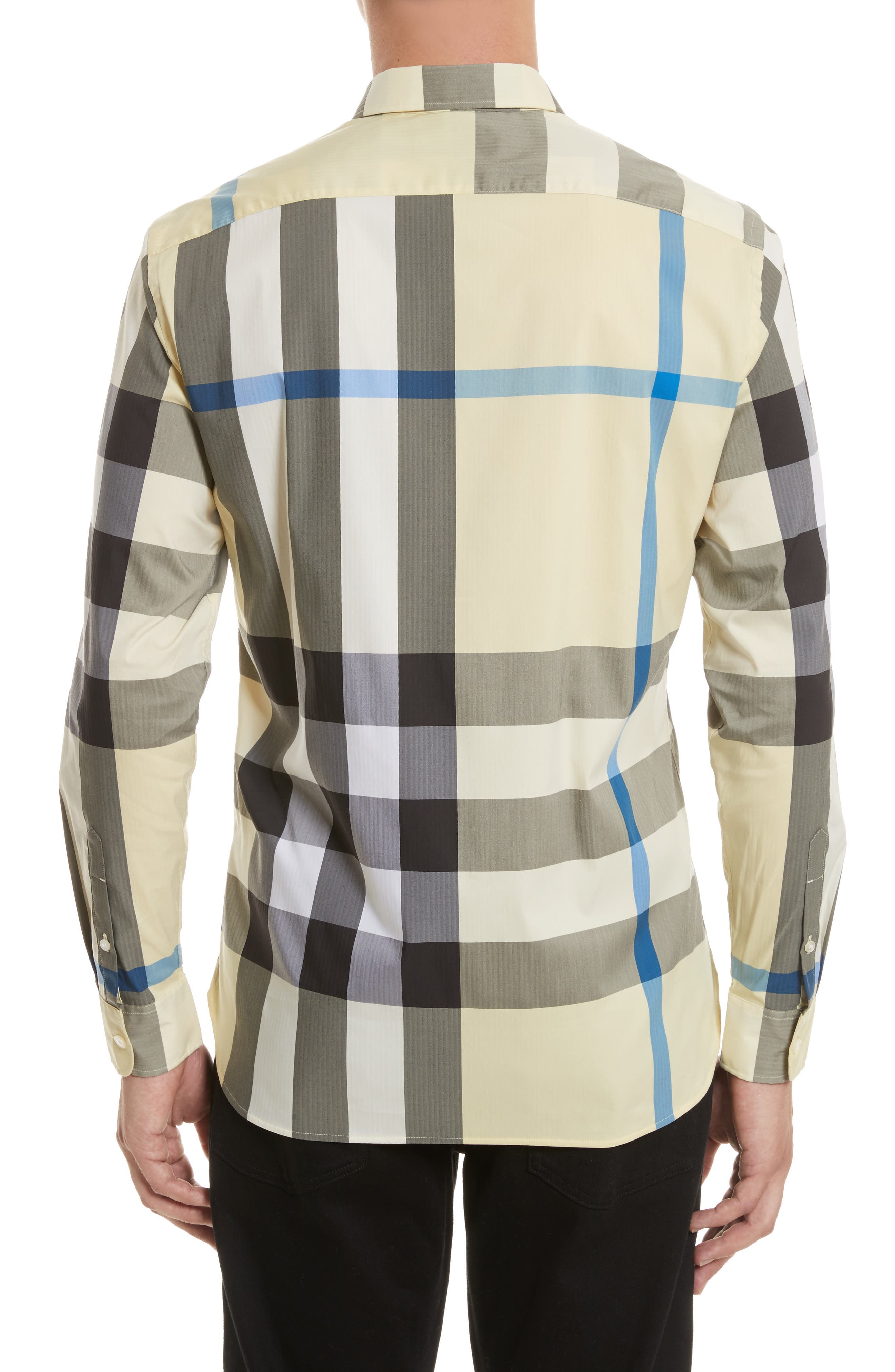 ,                             Thornaby Slim Fit Plaid Sport Shirt,                             Alternate thumbnail 52, color,                             740