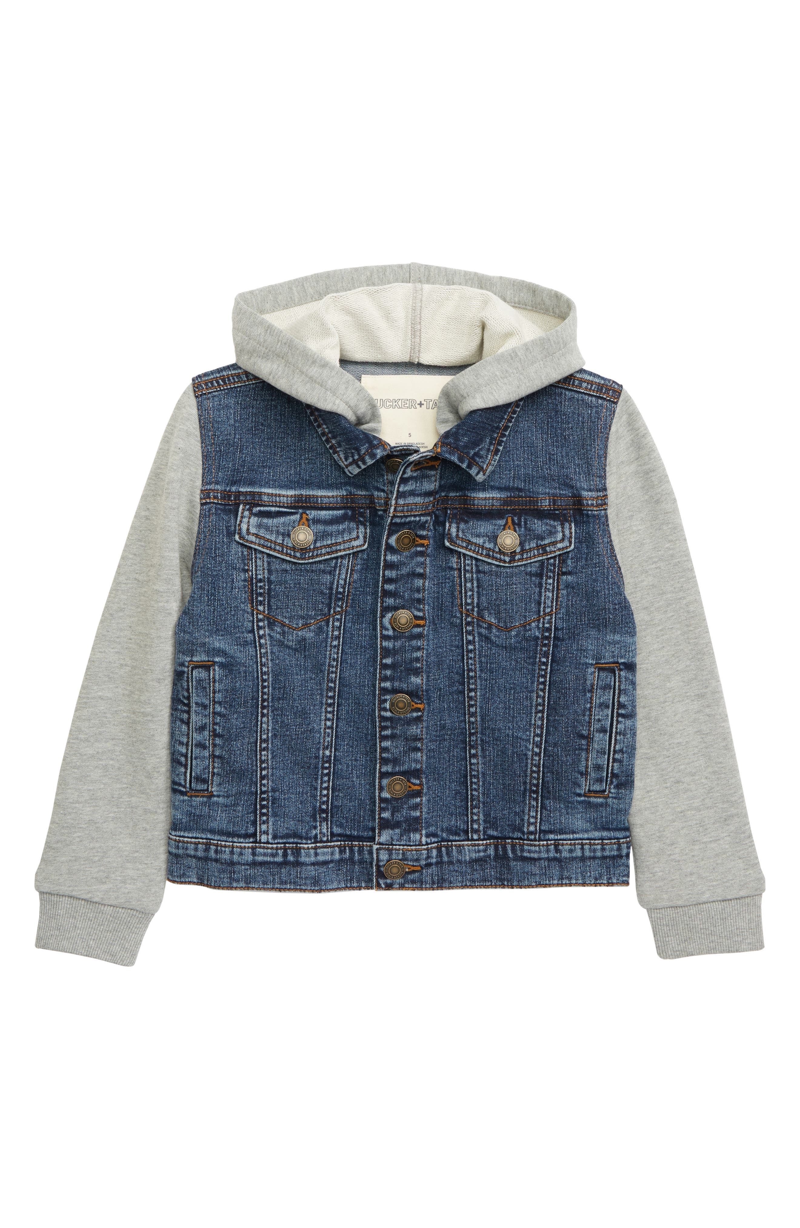 Toddler Boys Tucker  Tate Hooded Denim Jacket Size 2T  Blue