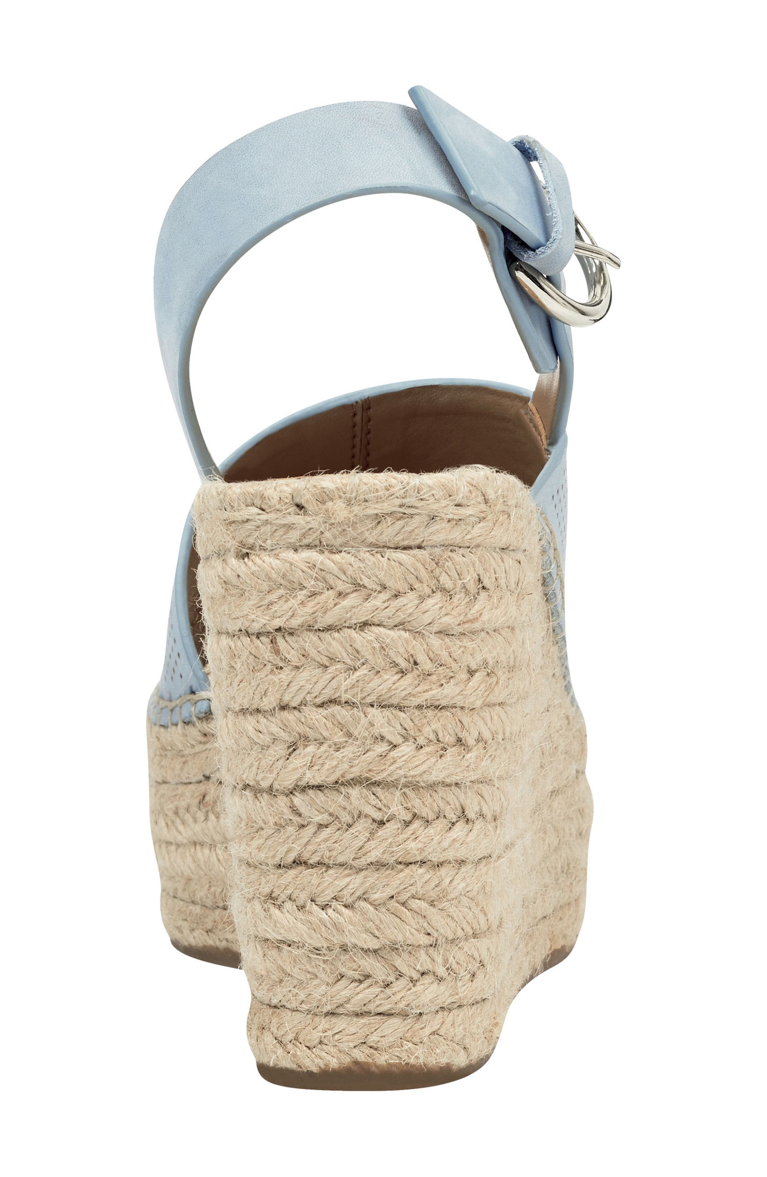 ,                             Andela Slingback Espadrille Wedge,                             Alternate thumbnail 7, color,                             LIGHT BLUE NUBUCK