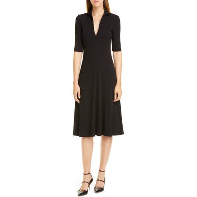 Rosetta Getty Rib Cotton Jersey Midi Dress, Black