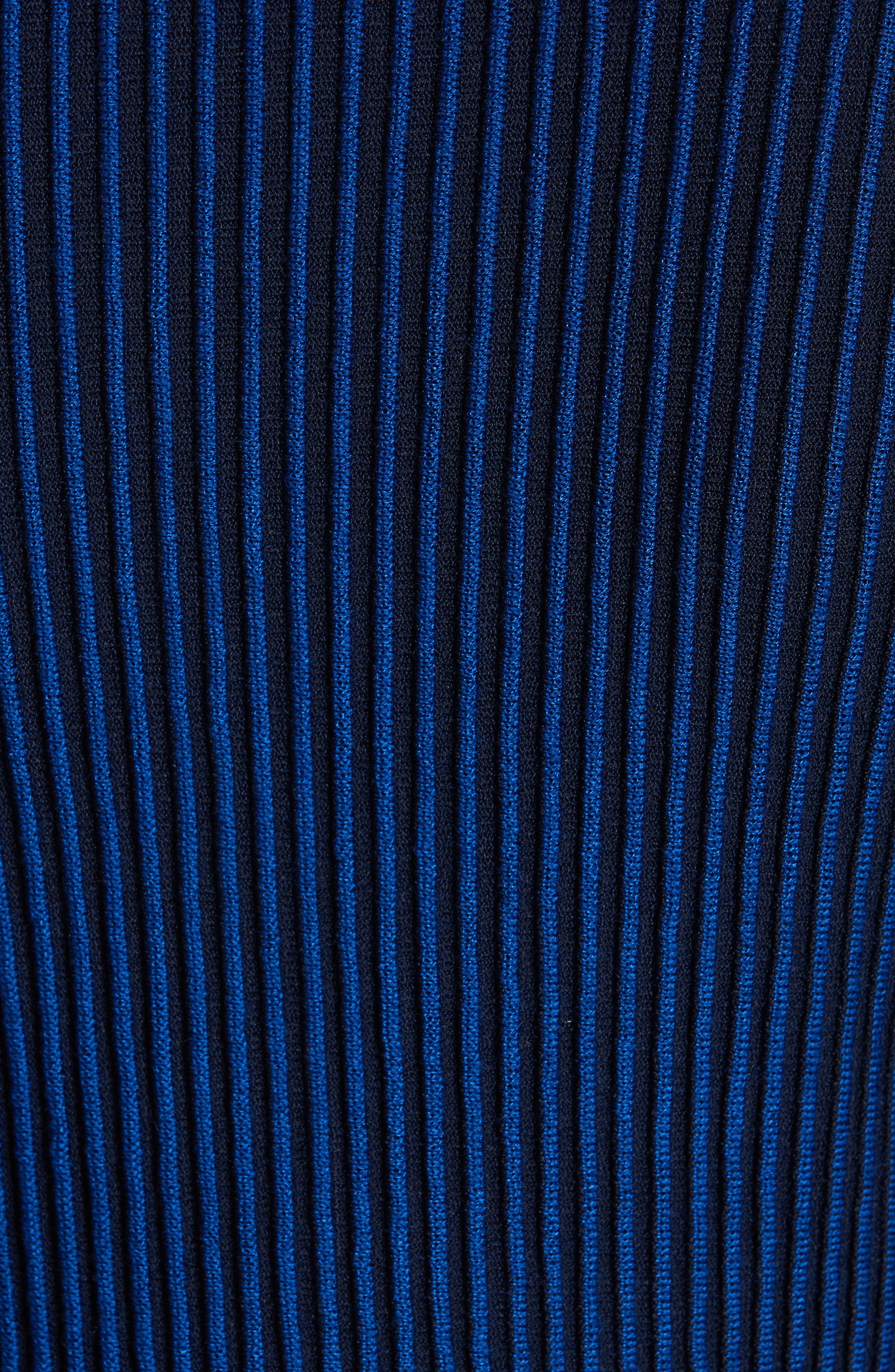 ,                             Knit Peplum Cardigan,                             Alternate thumbnail 6, color,                             AZUL/ NAVY MULTI
