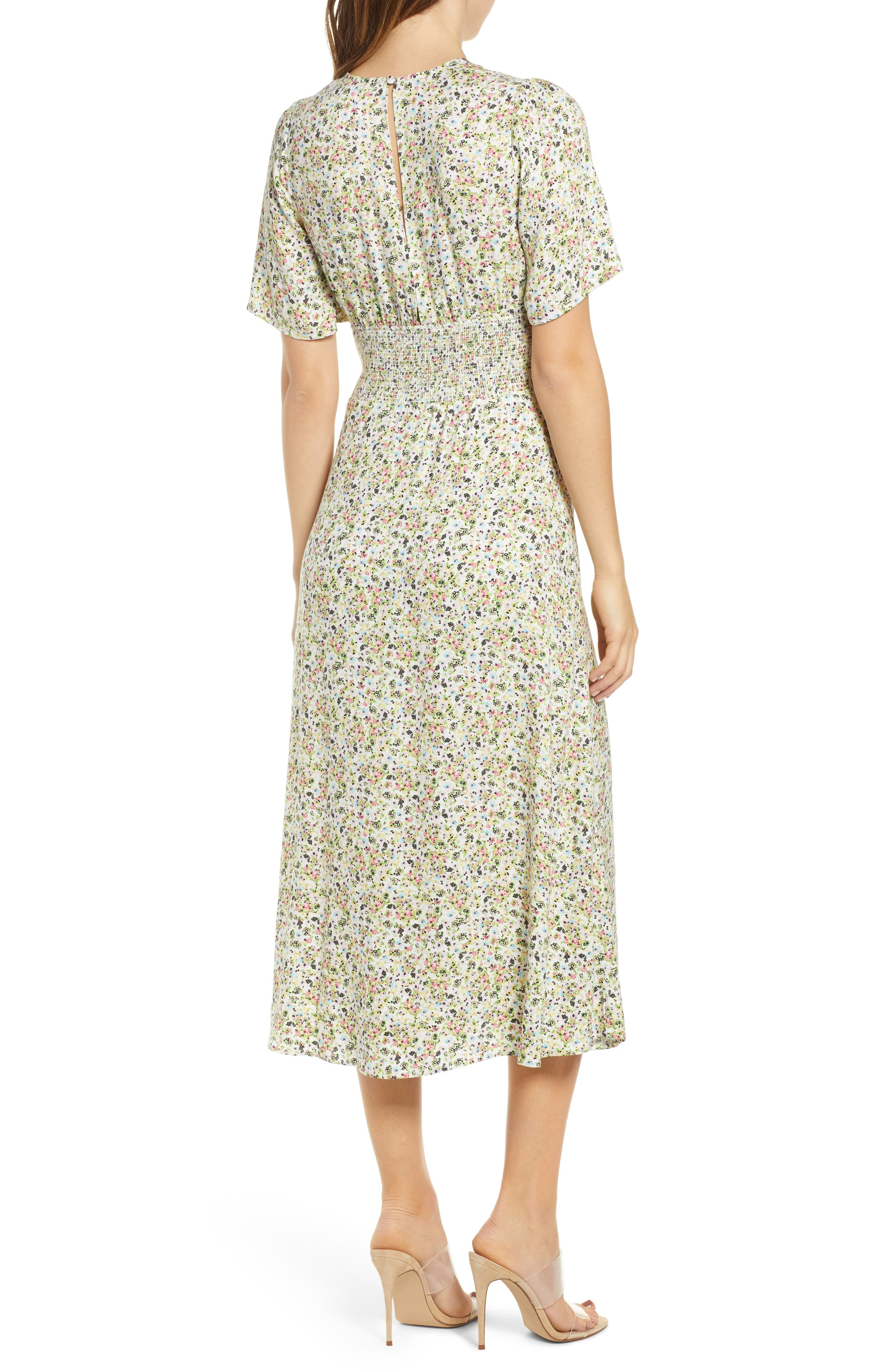 ,                             Janice Midi Dress,                             Alternate thumbnail 2, color,                             DITSY SPRING FLORAL