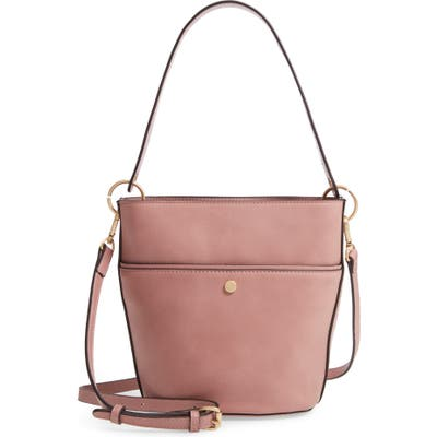 Sole Society Faux Leather Bucket Bag - Pink