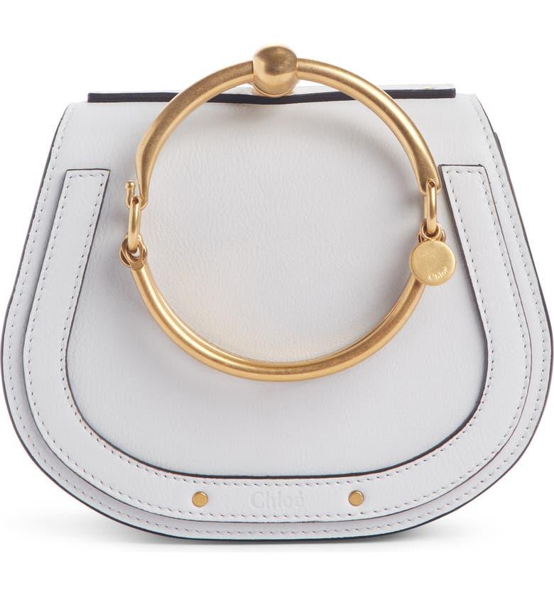 CHLOÉ Small Nile Bracelet Leather Crossbody Bag, Main, color, 107