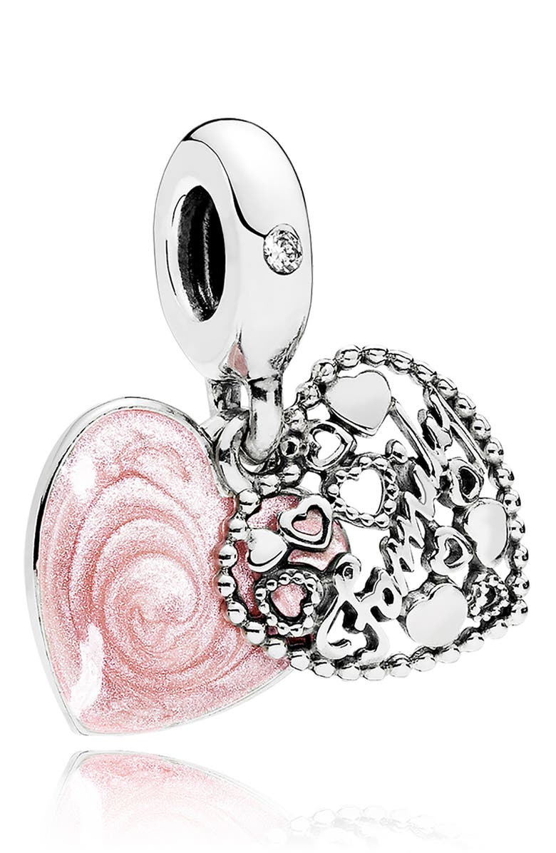 PANDORA Love Makes a Family Dangle Charm, Main, color, 040