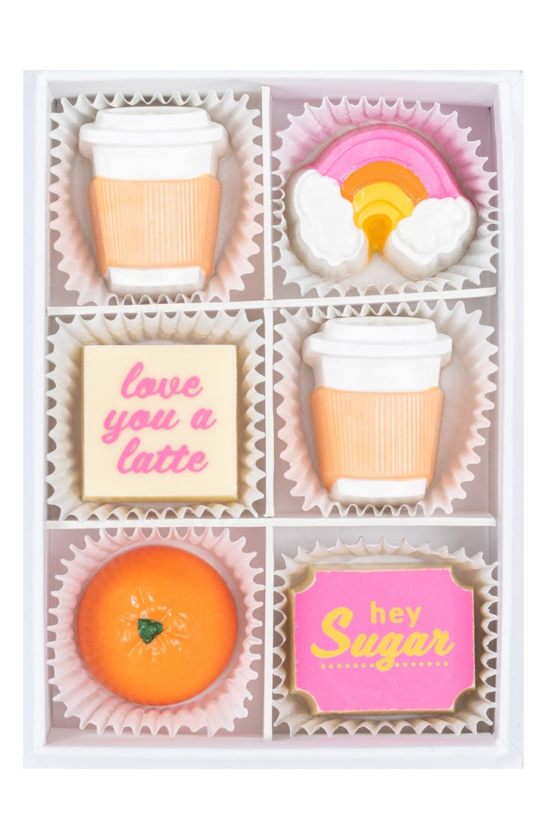 MAGGIE LOUISE CONFECTIONS Rise and Shine 6-Piece Chocolates, Main, color, WHITE