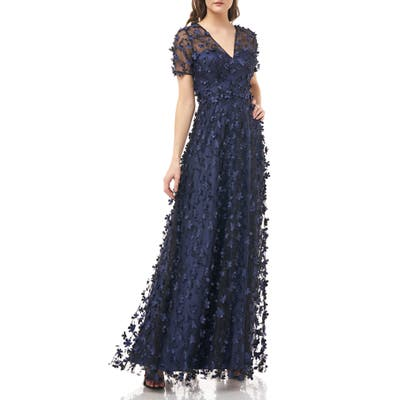 Carmen Marc Valvo Infusion 3D Novelty Gown