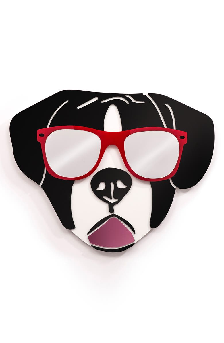 4ART WORKS Cool St. Bernard Wall Art, Main, color, RED BLACK AND WHITE