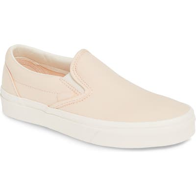 Vans Brushed Twill Classic Slip-On Sneaker- Ivory
