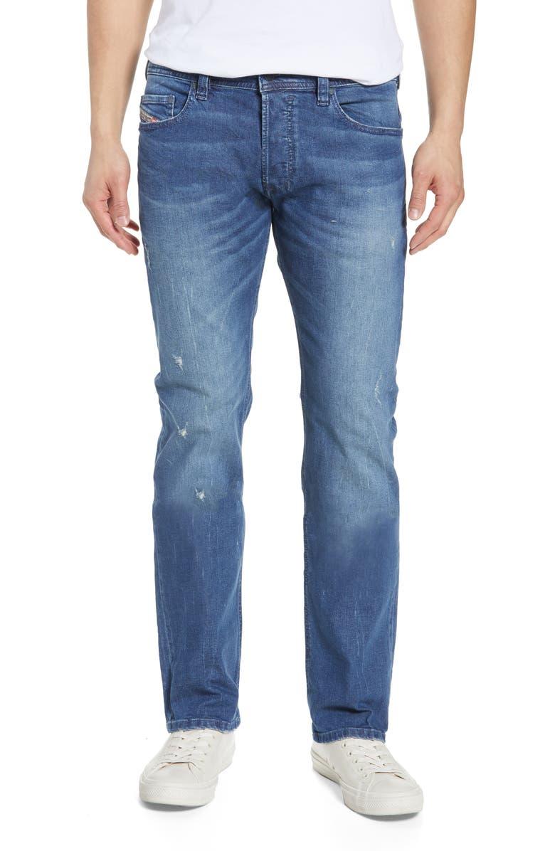 DIESEL<SUP>®</SUP> Safado Slim Straight Leg Jeans, Main, color, 400
