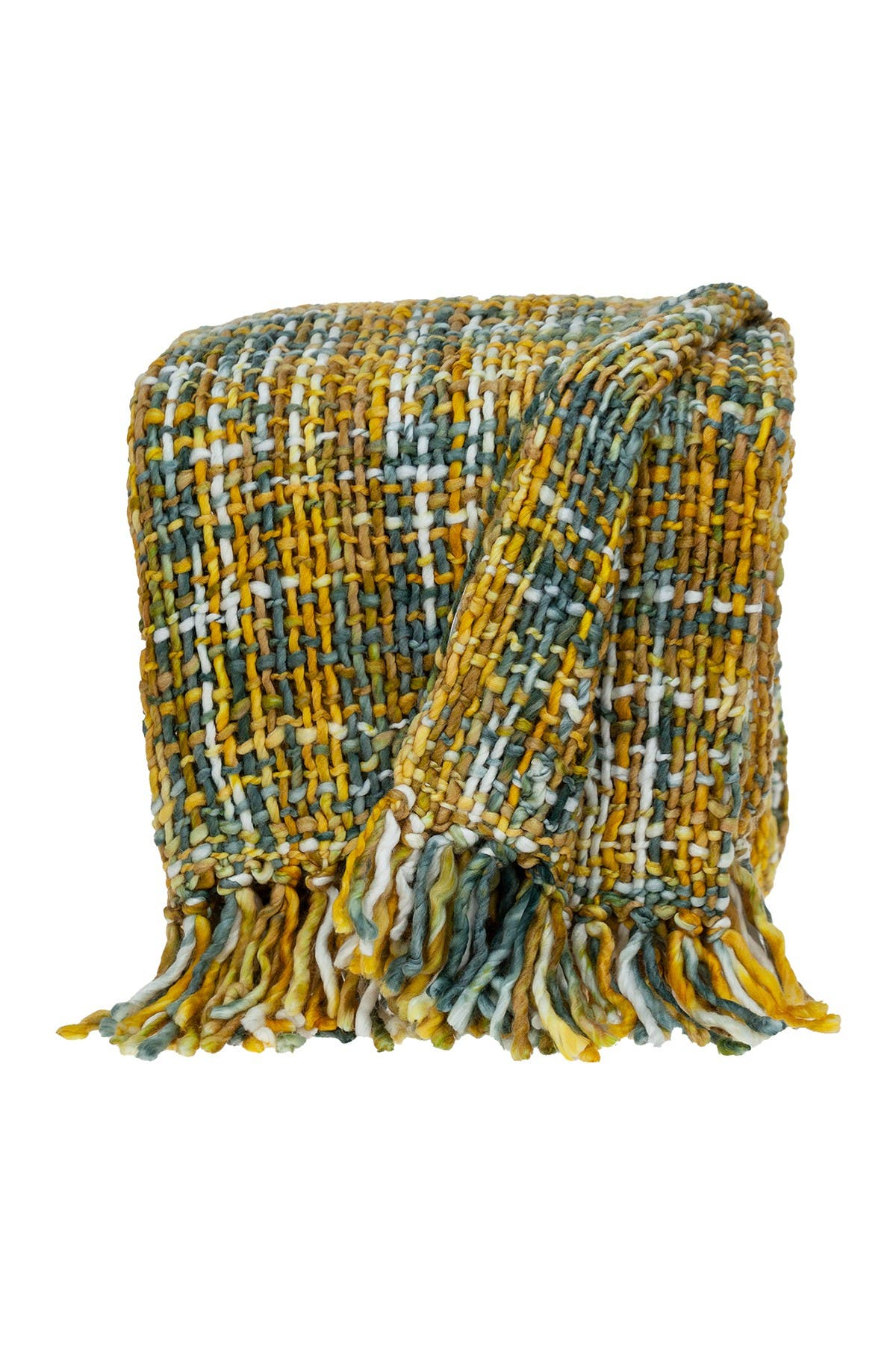 """Image of Parkland Collection Transitional Yellow 50"""" x 60"""" Handloom Throw Blanket"""