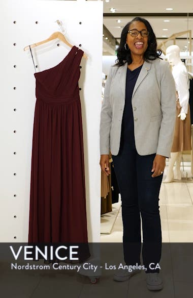 Chiffon One-Shoulder Gown, sales video thumbnail