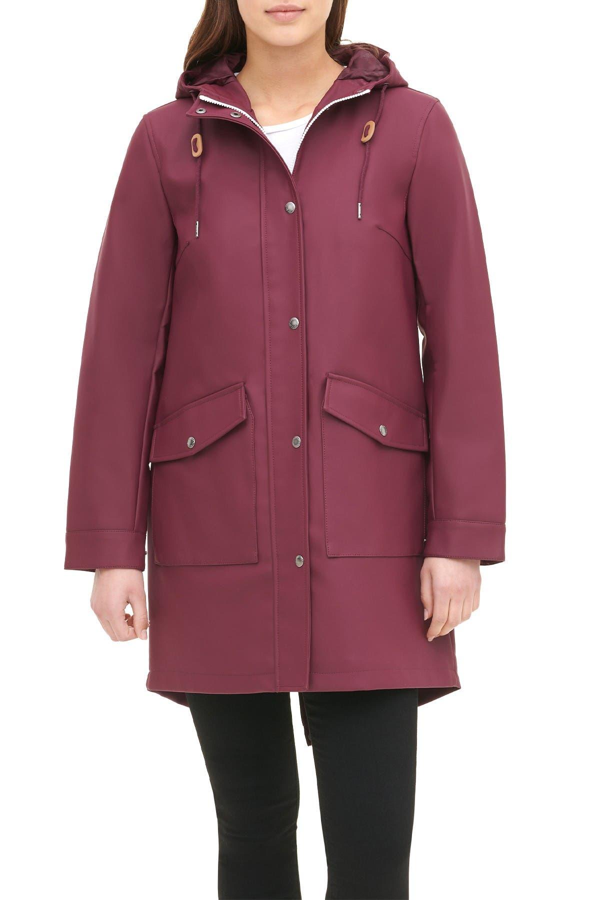 Image of Levi's Water Repellent Lightweight Hooded Raincoat