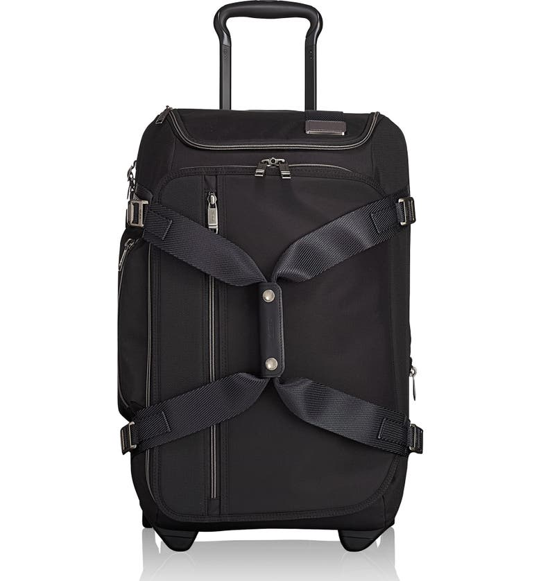 TUMI Merge 22-Inch Rolling Duffle Carry-On, Main, color, BLACK CONTRAST