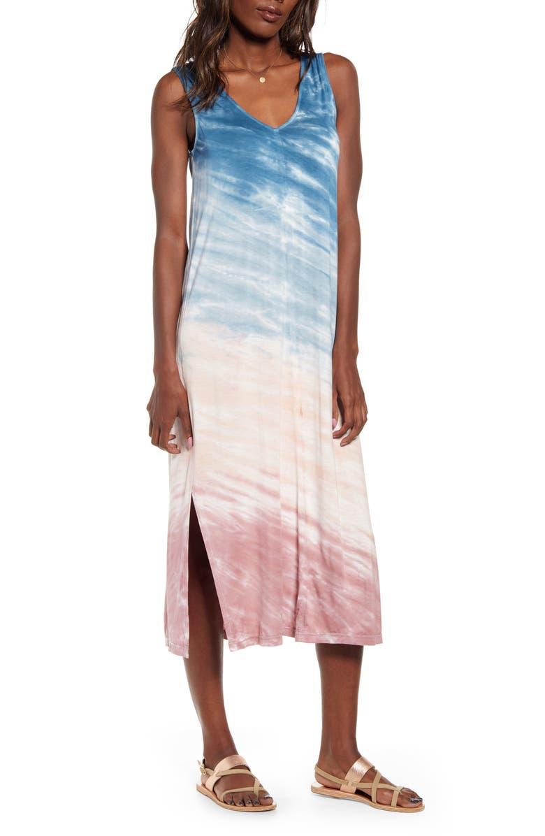 SPLENDID Eclipse Midi Dress, Main, color, ECLIPSE TREATMENT