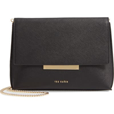 Ted Baker London Harlew Leather Crossbody Bag - Black