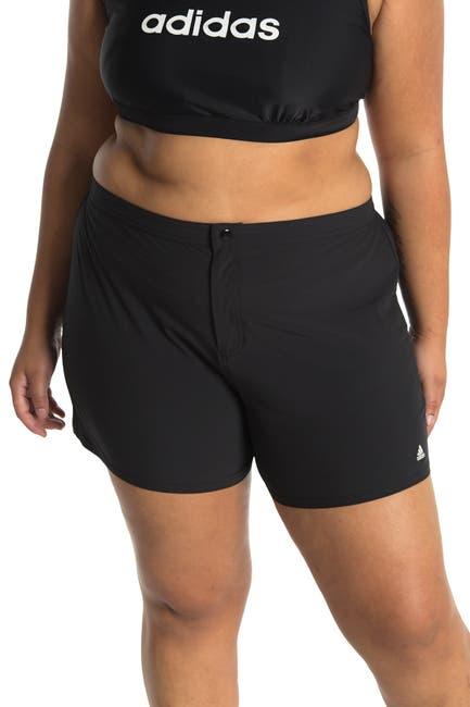 Image of adidas Solid Woven Swim Shorts