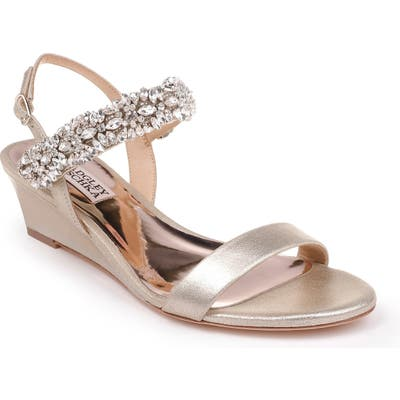 Badgley Mischka Larisa Wedge Sandal, Metallic