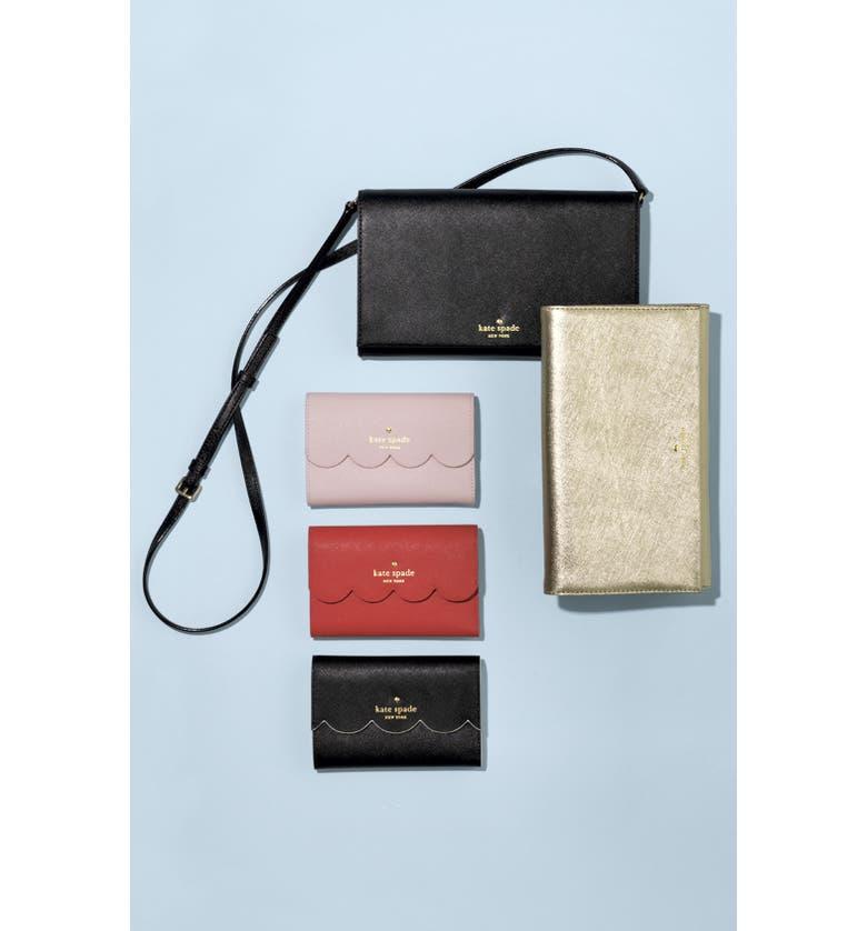 KATE SPADE NEW YORK 'cedar street - cali' leather clutch, Main, color, 401