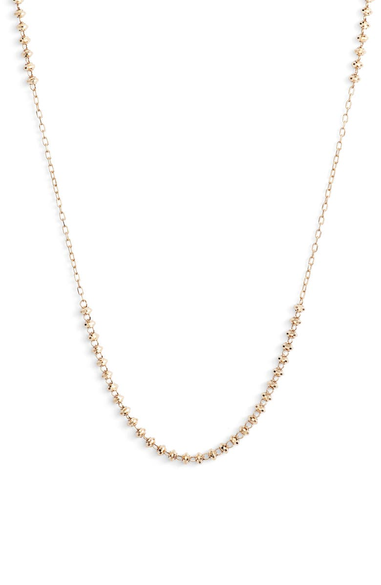 POPPY FINCH Shimmer Short Necklace, Main, color, YELLOW GOLD
