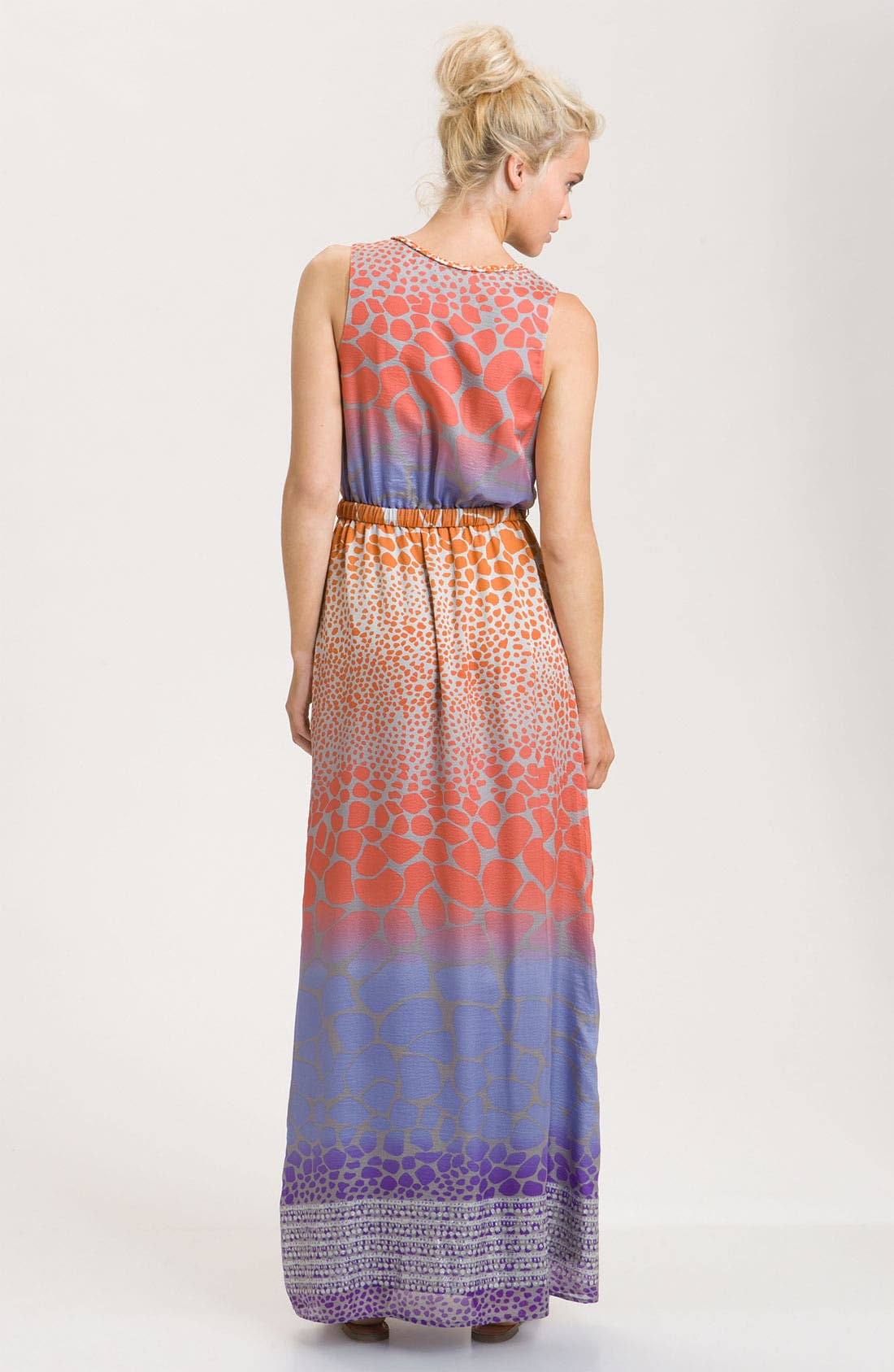 ,                             Print Silk Crêpe de Chine Maxi Dress,                             Alternate thumbnail 2, color,                             826