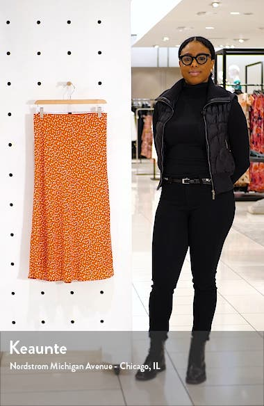 Anya Print Midi Skirt, sales video thumbnail