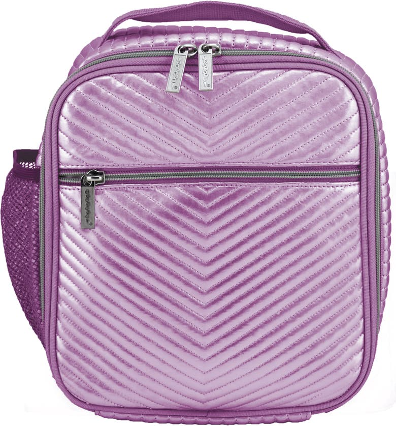 ISCREAM Pink Chevron Lunch Tote, Main, color, PINK