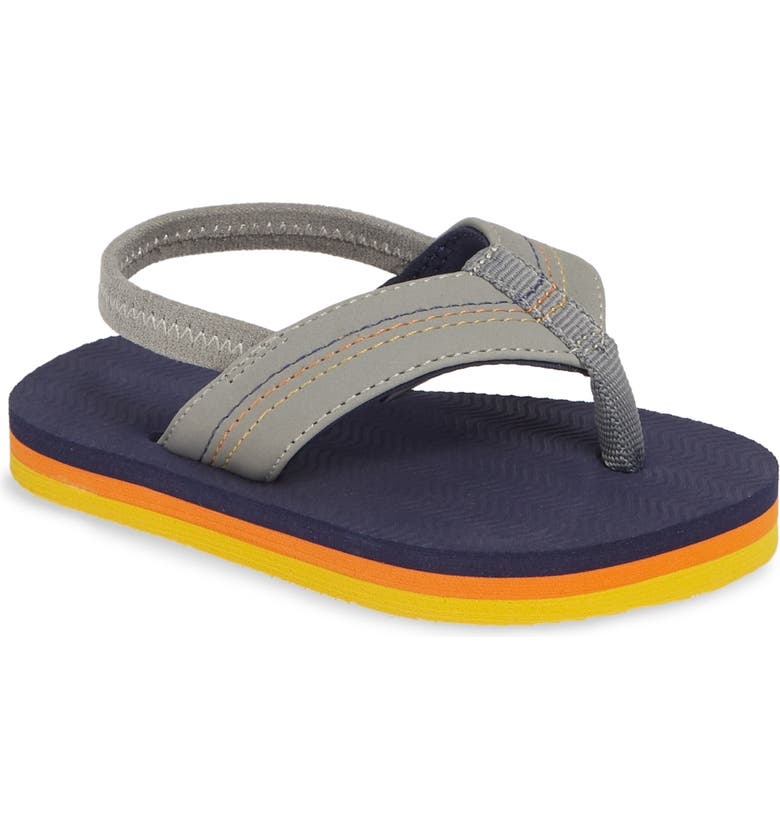 HARI MARI Brazos Thong Sandal, Main, color, GRAY/ NAVY