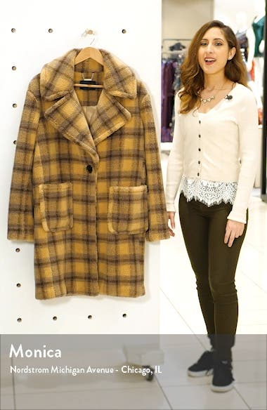 Plaid Teddy Coat, sales video thumbnail
