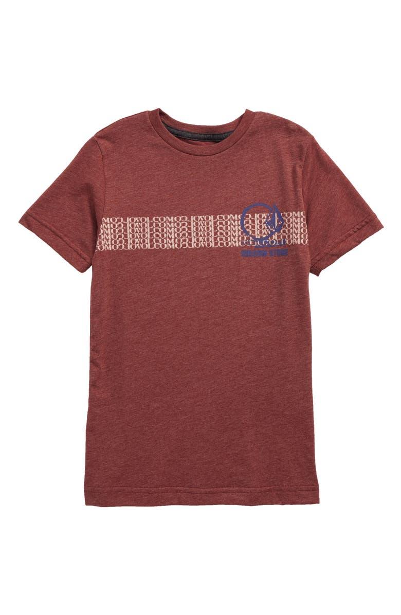 VOLCOM Repetition Graphic T-Shirt, Main, color, CRIMSON