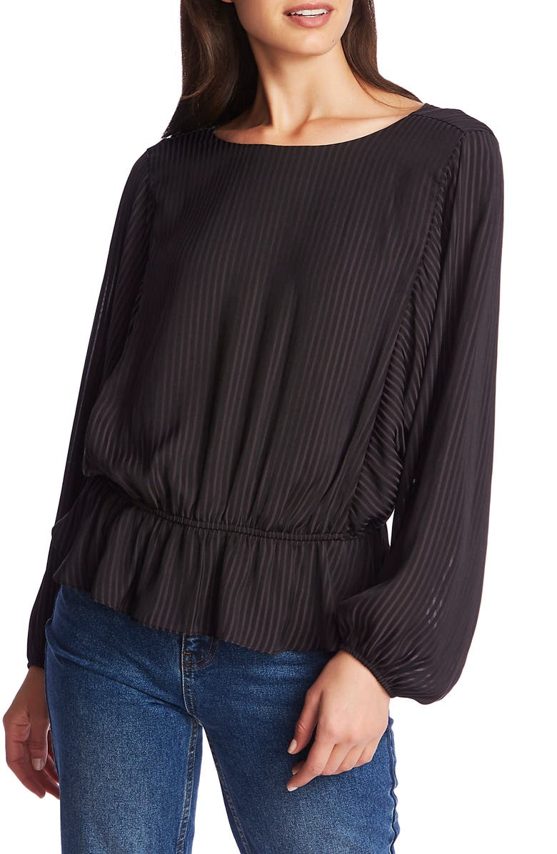 1.STATE Shadow Stripe Dolman Sleeve Peplum Top, Main, color, 001