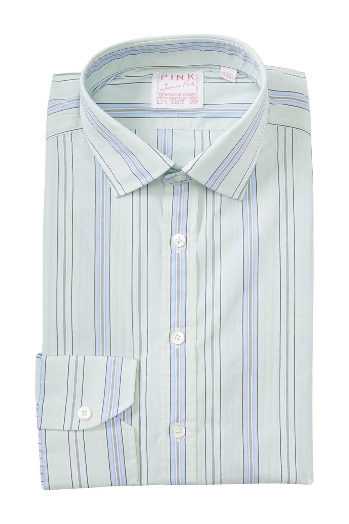 Image of THOMAS PINK Piumino Stripe Print Dress Shirt