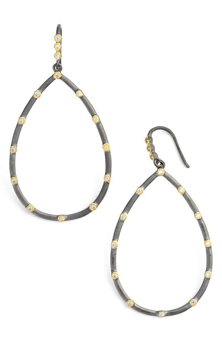 FREIDA ROTHMAN Teardrop Frontal Hoop Earrings, Main, color, 041