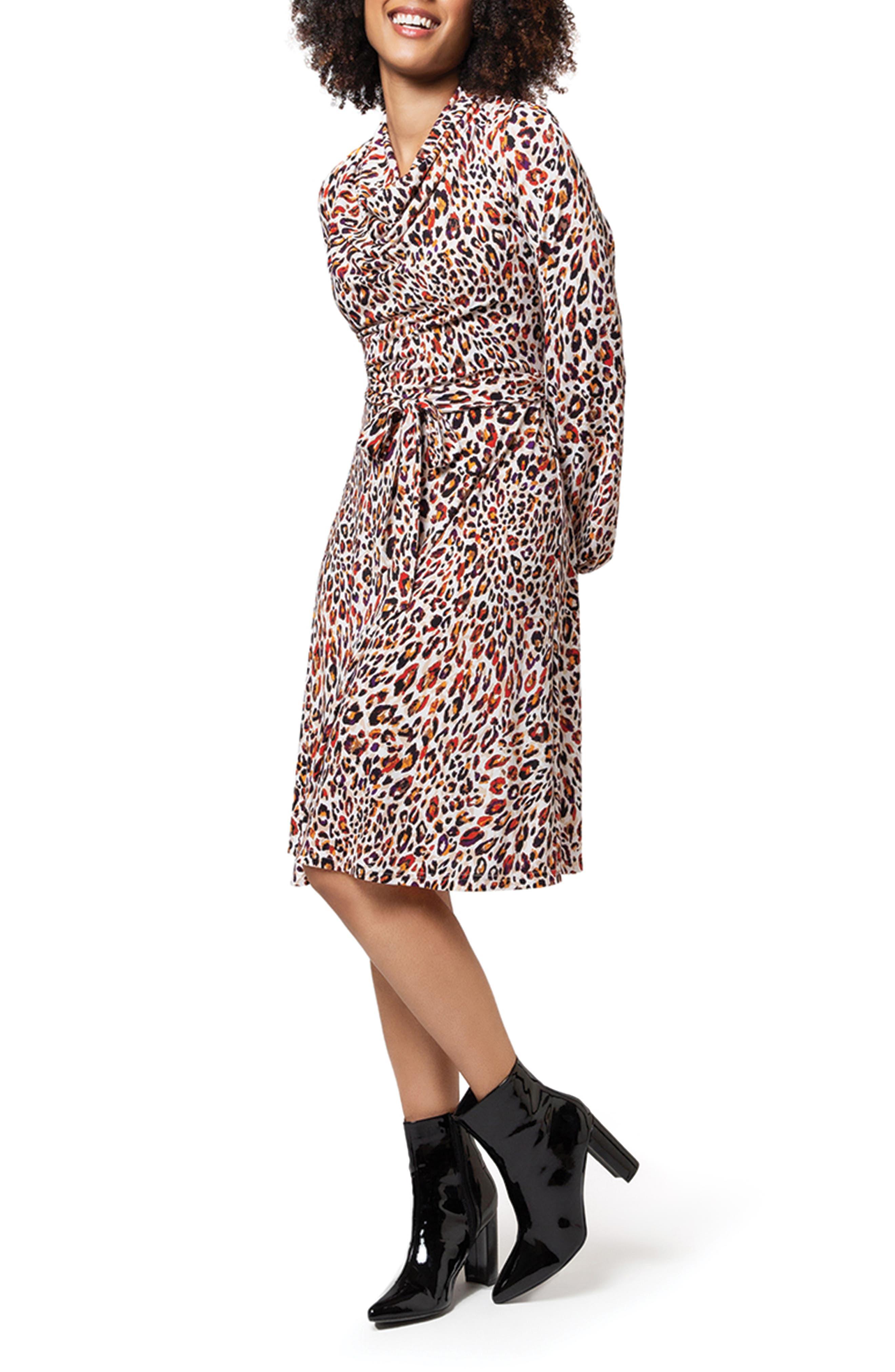 Mallory Animal Print Long Sleeve Dress