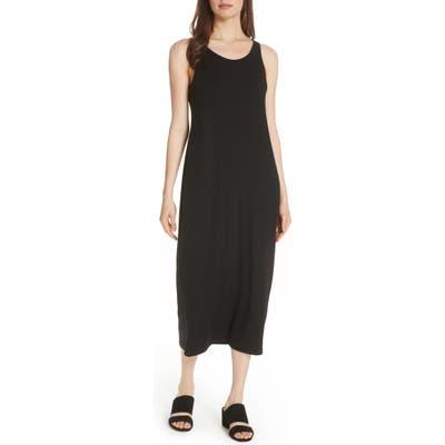 Petite Eileen Fisher Midi Tank Dress, Black
