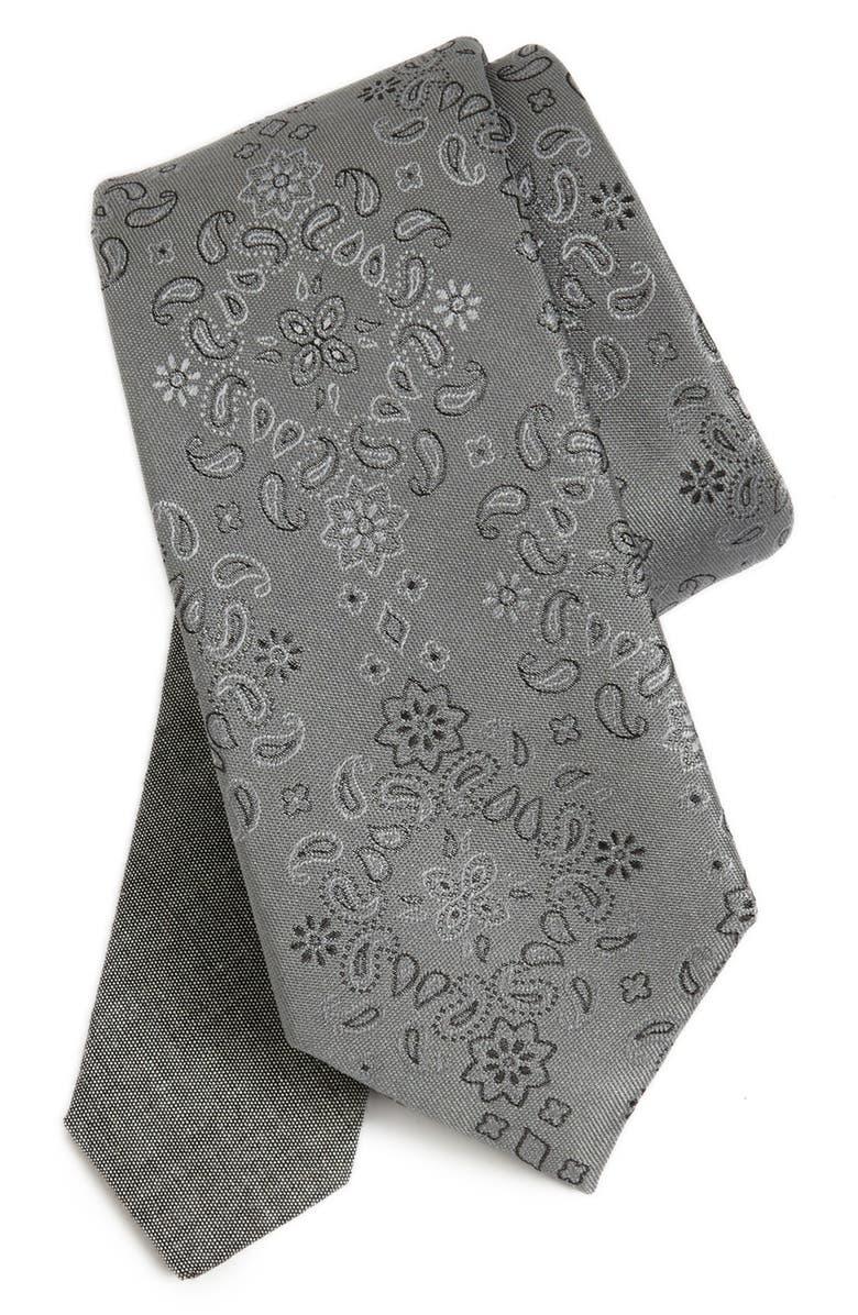 EDIT BY THE TIE BAR Paisley Silk Tie, Main, color, 001