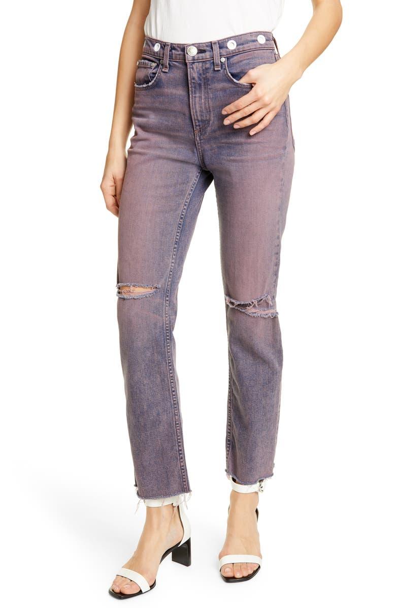 RAG & BONE Maya High Waist Ankle Straight Leg Jeans, Main, color, 665