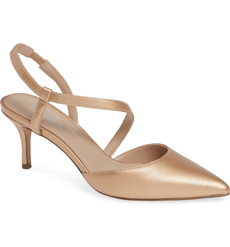 CHARLES BY CHARLES DAVID Alda Pump, Main, color, ROSE GOLD FAUX LEATHER
