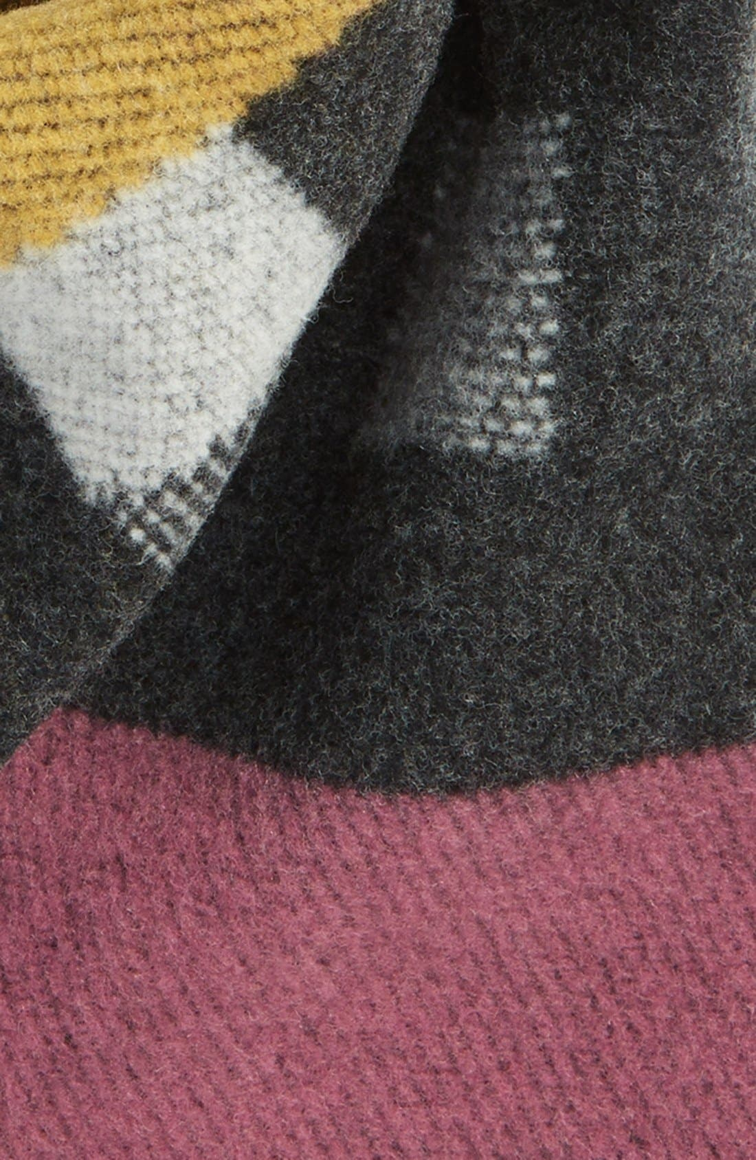 ,                             Check Wool & Cashmere Blanket Scarf,                             Alternate thumbnail 8, color,                             650