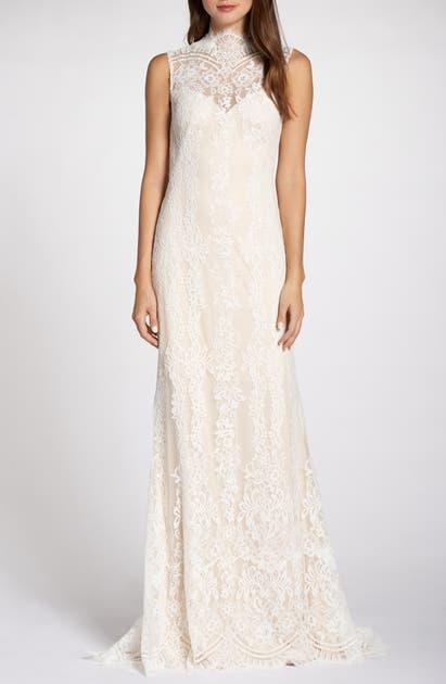 Back Detail Lace Wedding Dress In Ivory Petal
