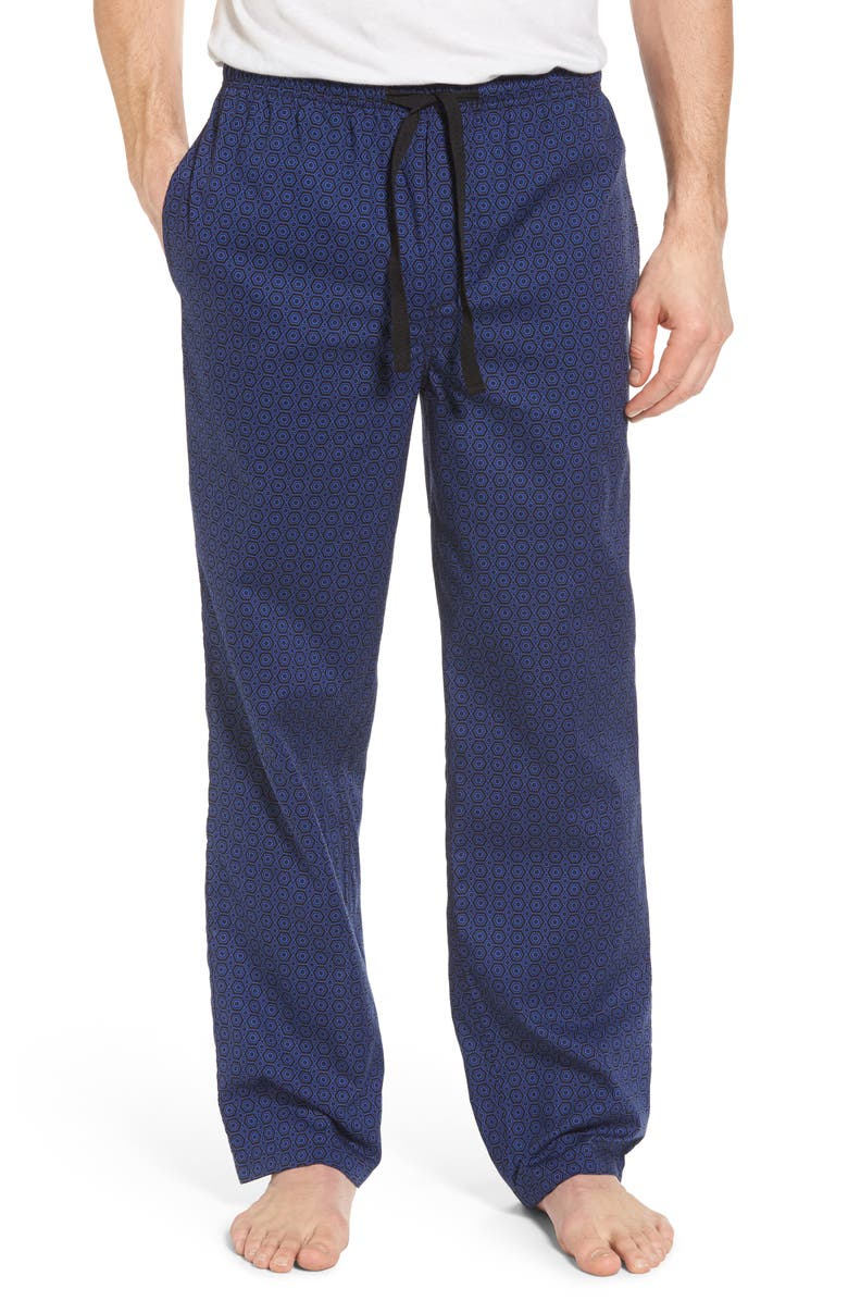 NORDSTROM MEN'S SHOP Poplin Pajama Pants, Main, color, 002