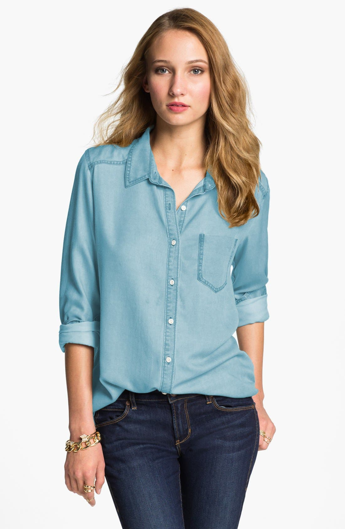 ,                             Rubbish Oversized Menswear Shirt,                             Main thumbnail 5, color,                             400