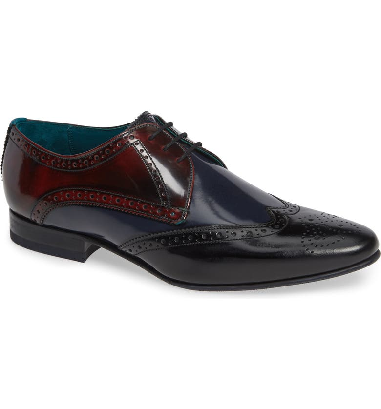 TED BAKER LONDON Wingtip, Main, color, MULTI LEATHER