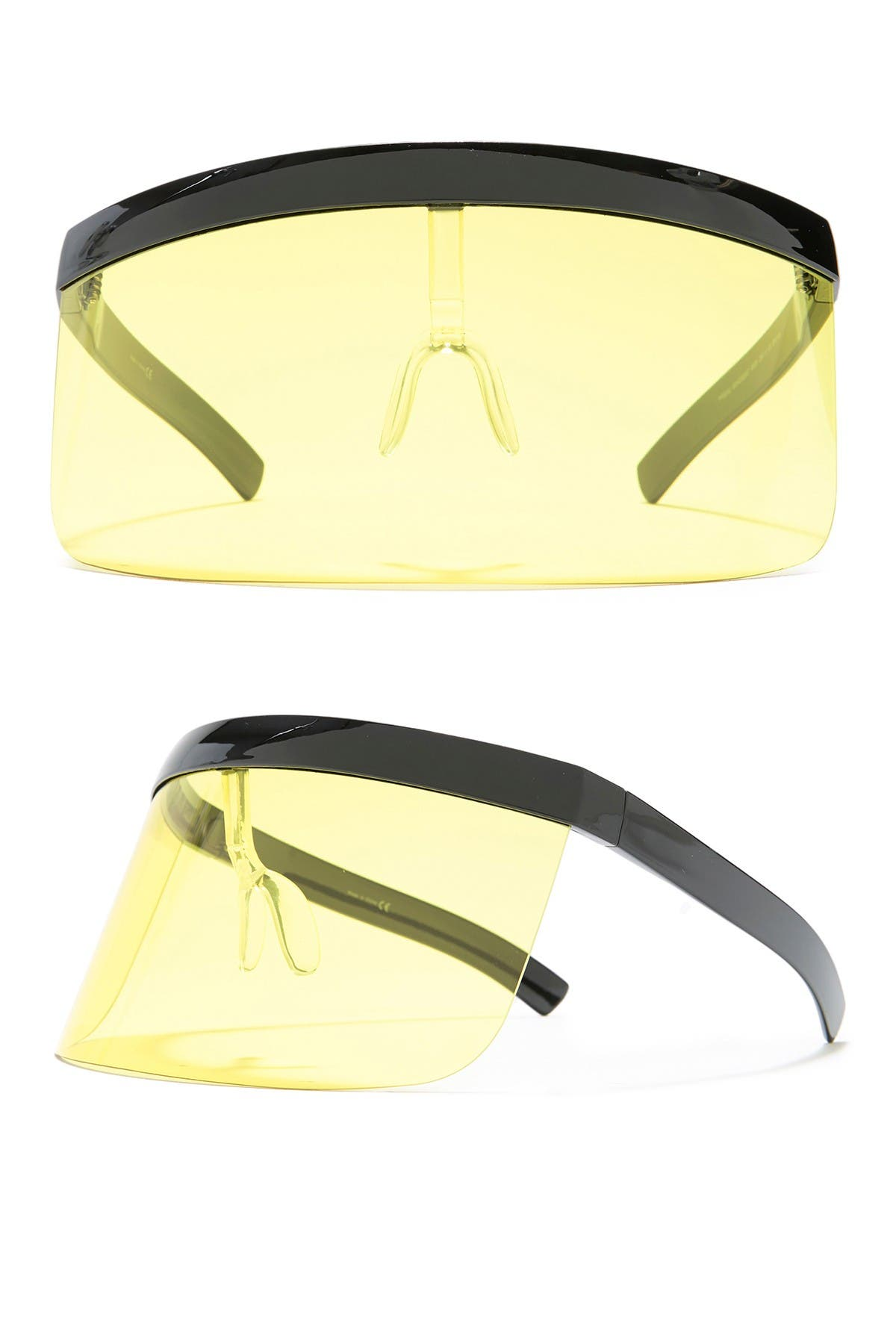 Image of Details Eyewear Personal Protective Eye Shield - Black/Yellow