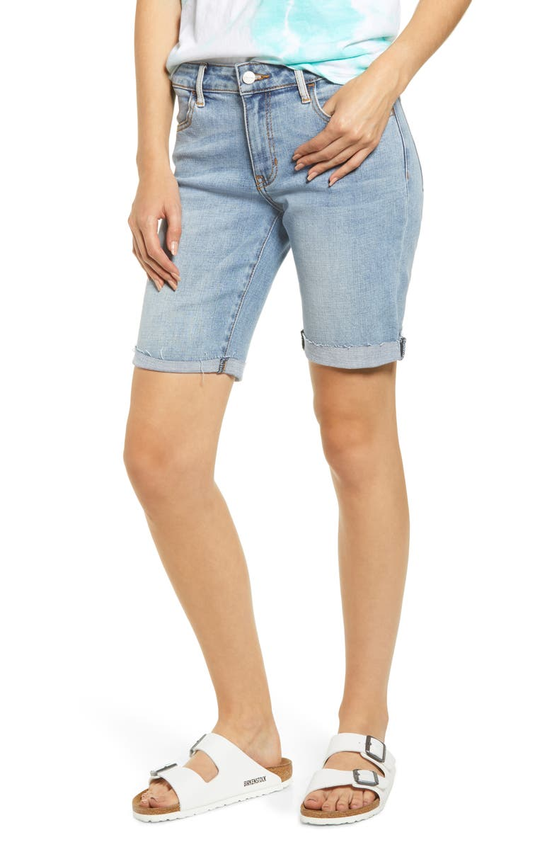 MADE IN BLUE Denim Bermuda Shorts, Main, color, LIGHT WASH